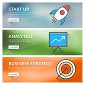 Flat Design Concept For Start Up, Analytics, Business Strategy