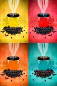 Colorful Coffee Mug Collage