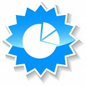 Pie chart diagram blue icon