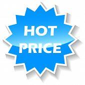 Hot price blue icon