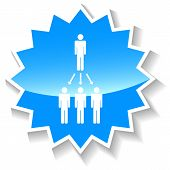 Leadership Structure blue icon
