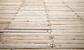 Wooden Pier Background Texture With Perspective
