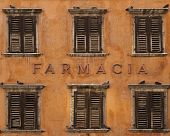 Pharmacy Inscription On House