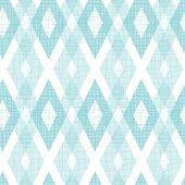 Pastel blue fabric ikat diamond seamless pattern background