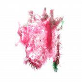 macro spot blotch green, crimson, burgundy texture isolated on w