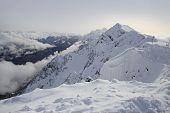 image of sochi  - Peak Stone Pillar in Rosa Khutor Alpine Resort in Sochi - JPG