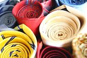 Set Of Colorful Ties Close-up Image