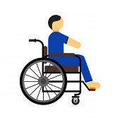picture of disabled person  - Disabled person - JPG
