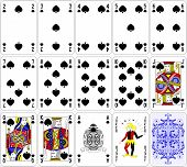 pic of ace spades  - Poker cards spade set four color classic design 600 dpi - JPG