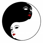 pic of ying yang  - Masks - JPG