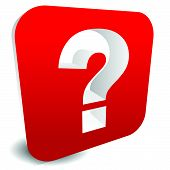 picture of riddles  - 3D red question mark graphics for related concepts - JPG