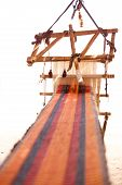 pic of nomads  - Traditional loom and homespun fabric in a Bedouin village Egypt - JPG