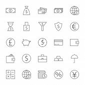 stock photo of money  - Money Finance Banking Big Icons Set - JPG