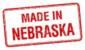 pic of nebraska  - made in Nebraska red square isolated stamp - JPG
