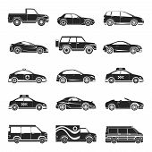 picture of motor-bus  - Car icons set - JPG
