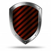 stock photo of hazardous  - Classic metal shield - JPG