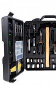 pic of pliers  - toolbox set of tools include hammer wrench bit driver pliers hex key bush level hex key - JPG