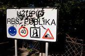 Uzupis Road Sign