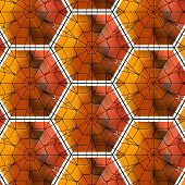 foto of tetrahedron  - Seamless gemstone vector pattern with cubes and pyramids - JPG