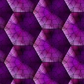 foto of dodecahedron  - Seamless gemstone vector pattern with cubes and pyramids - JPG