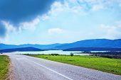 picture of crimea  - road in Crimea road and sky in Crimea - JPG