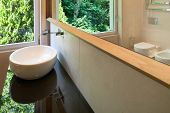 foto of bathroom sink  - interior modern house - JPG