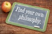 stock photo of philosophy  - Find your own philosophy  - JPG