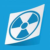 picture of hazardous  - Sticker with radio hazard icon - JPG