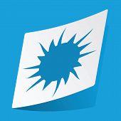 stock photo of starburst  - Sticker with starburst icon - JPG