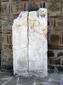 Ancient Roman Stela - Historical Monument  poster