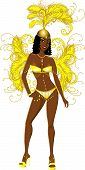 stock photo of showgirl  - Vector Illustration for carnival costume or las vegas showgirl - JPG