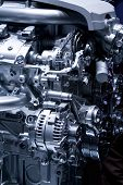 stock photo of noise pollution  - Car engine part  - JPG