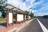 stock photo of bus-shelter  - Outdoor billboard image - JPG