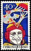Vintage  Postage Stamp. Alexei Leonov.