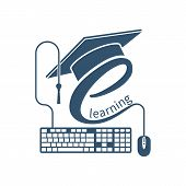E-learning Logo, Vector poster