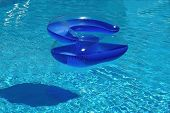 Blue Chair In Swimming Pool