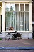 Amsterdam - Typical Window With Parked Bike