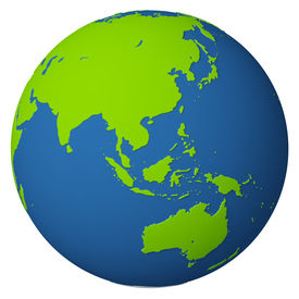picture of world-globe  - The model of globe with a bas - JPG