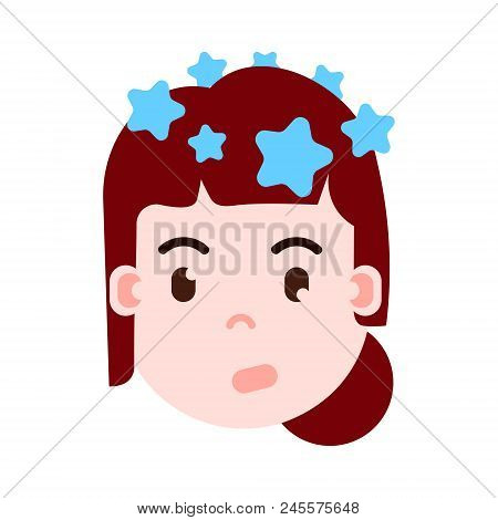 Girl Head Emoji Personage Icon