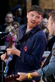 NEW YORK - OCTOBER 21: Coldplay performs live for the Toyota Concert Series on NBC's Today Show at R
