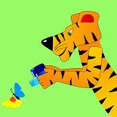 Tigre faz um instantâneo