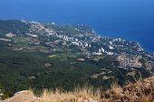 Crimea from height of the bird's flight