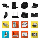 Home Appliances And Equipment Black, Flet Icons In Set Collection For Design.modern Household Applia poster