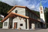 Alpine church in Canazei