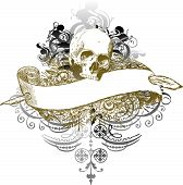 Vector Skull Banner Illustration
