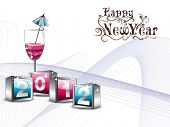 beautiful illustration for new year 2012