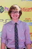 LOS ANGELES - OCT 22:  Angus T. Jones arriving at the 2011 Variety Power of Youth Evemt at the Param