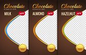 Chocolate Bar Packaging Template Design. Chocolate Branding Product Pattern. Vector Luxury Design Pa poster