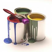 picture of paint pot  - pots of paint - JPG