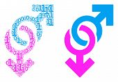 Gay Symbol Collage Icon Of Zero And One Symbols In Randomized Sizes. Vector Digit Symbols Are Arrang poster